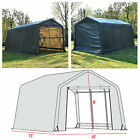 10x15x8 FT Storage Shed Logic Tent Shelter Car Garage Steel Carport Canopy