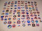 90 Diff NASA Space Shuttle Mission Crew Astronaut Collectible Stickers Lot