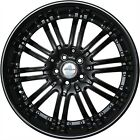 4 GWG Wheels 20 inch STAGGERED Black NARSIS Rims fits LEXUS GS 350 AWD 2007 2018