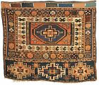 Antique Persian Kurdish Juval chuval bagface Rug; Circa 1900; 3-2 x 3-9 ft.