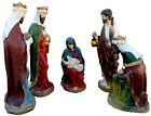 Life Size Reinforced Plaster Nativity Outdoor Display Set of Five