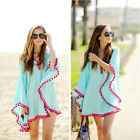Beach Cover For Women Bikini Cover Up Summer Swimmsuit With Tassels Dress Soft