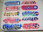 100 10 Diff NASA SPACE SHUTTLE Mission Crew Astronaut Stickers Dealers Lot