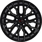 4 GWG Wheels 18 inch Black Laser Mill FLARE Rims fits SUBARU B9 TRIBECA 2006 07