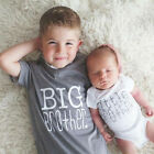 Family Matching Tops Little Big Brother Romper T shirt Newborn Baby Boy Clothes