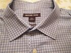 MCHAEL KORS TAILORED FIT SHIRT BLUE & WHITE LONG OR ROLL SLEEVES SIZE XXL