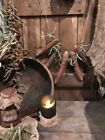 Primitive Dried Corn Cobs and Bean Garland Early Look Homestead Bowl Filler