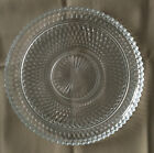 Vintage INDIANA GLASS round tray TORTE dish DIAMOND POINT pattern PRESCUT 12-1/2