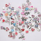 Lot of 10 Mini Enamel Metal Floating Charms 5 8 mm Pendant Locket Jewelry Crafts