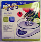 THE BIGGEST LOSER GLASS DIGITAL FOOD SCALE BY TAYLOR CAPACITY 66 LB FREE SHIP