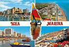 Italy Igea Marina Port Harbour Boats Beach and Hotels General view Boats
