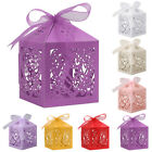 25 50 100Pcs Paper Candy Gift Box Laser Cut Wedding Favor Love Heart Party Decor
