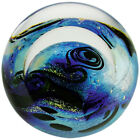 Glass Eye Studio celestial series paperweight Blue Planet 2219 Brand New