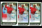 (3) 2008 Bowman Chrome Refractor #194 Joey Votto RC Rookie Card Lot REDS