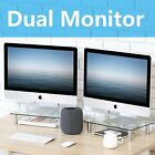Dual Monitor Riser 2 Pack Desktop Imac PC Screen Stand Table Top Glass Table