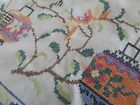 Stunning vintage table linen cross stitched bright and unusual Chinese lanterns