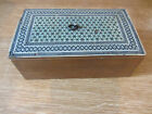 """Vintage Wooden Box Rustic Style Slid Opening 5.5"""" x 3.5"""" Used."""