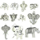 Wholesale Tibet Silver Elephant Plated DIY Craft Pendant Charm Jewelry Findin