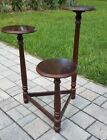 Vintage Mahogany pedestal plant stand display 3 tier Powell neo-classical