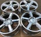 SET FOUR 20 PVD CHROME WHEELS RIMS FIT CHEVROLET TAHOE SUBURBAN SILVERADO NEW T
