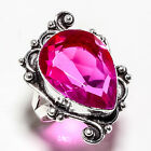 BI-COLOR TOURMALINE GEMSTONE 925 SILVER JEWRLRY RING 8.25