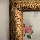 Vintage Gold Tone Metal Frame. Easel or Wall. 15