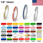 1 8 Roll Vinyl Pinstriping Pin Stripe Solid Line Car Tape Decal Stickers 3mm