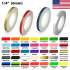1 4 Roll Vinyl Pinstriping Pin Stripe Solid Line Car Tape Decal Stickers 6mm