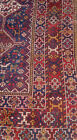 GENUINE ANTIQUE ORIENTAL HANDKNOTTED KHAMSEH TRIBAL PERSIAN 'CHICKEN' RUG c.1900