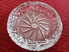 Vintage Mid Century Heavy Clear Glass Lead Crystal Ashtray 8 Pointed Star 8