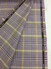 Lilac Check Plaid 100 Cotton Luxury Suit Fabric Made In Huddersfield England