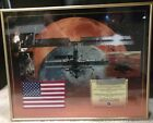 NASA Flown in Space Flag STS 108 Endeavor Post 9 11 Historical US Framed