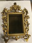 Antique French Shadow Box with Carved Ornate Gold Accents Amazing Condition