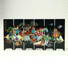 China Lacquerware Handwor Eight Immortals Drunkenness Screen R3013+a