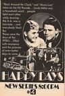 1974 TV AD~HAPPY DAYS PREMIERE~RON HOWARD~1950'S ERA NEW TLEVISION SERIES