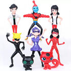 8pcs Miraculous Ladybug Tikki Noir Cat Plagg Adrien Action Figures Doll Toys Set
