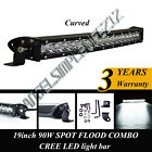 20IN 90W CREE Led Light Bar Flood Spot Combo Driving for Offroad 4x4WD Truck ATV