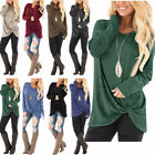 New Womens Tunic Tops Long Sleeve Casual Loose Tops Blouse Fashion Shirt T Shirt