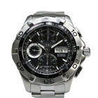 Tag Heuer Aquaracer Chrono Day Date Ref CAF5010 Automatic Winding Black Dial