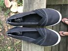 Keds WF52726 Womens Black Canvas Slip On Sneakers size 10