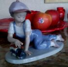 LLadro 07619 All Aboard Young Lad Playing With A Train Spain
