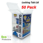 50 Funko POP Acid Free Crystal Clear Strong Protector case For 4 Vinyls Figures