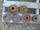 (6) Old Iron Gears for Steampunk Art Decor