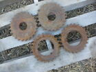 (4) Old Iron Gears for Steampunk Art Decor