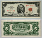 1963 $2 DOLLAR  US NOTE LEGAL TENDER PAPER MONEY CURRENCY RED SEAL W909