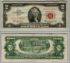 1963 $2 DOLLAR  US NOTE LEGAL TENDER PAPER MONEY CURRENCY RED SEAL W904