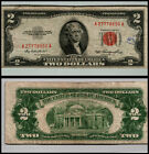 1953 $2 DOLLAR BILL US NOTE LEGAL TENDER PAPER MONEY CURRENCY RED SEAL V782