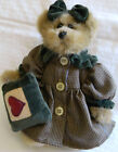 1997 Boyds Bears Bailey with Velvet Heart Quilt Pillow Excellent Condition