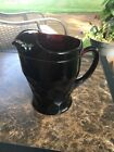 Vintage Anchor Hocking Ruby Red Honeycomb Pitcher w/ Ice Lip - 56 oz