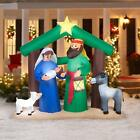 Christmas Inflatable Holy Family Nativity Scene Decorations Tree Outdoor Yard